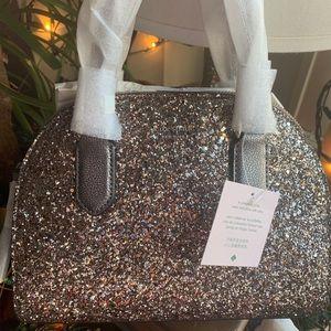 Authentic Kate Spade Glitter/Leather Satchel-Crosb